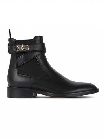 Choies Black Leather Ankle Boots