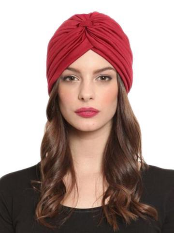 Choies Red Turban Hat