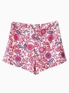 Choies Vintage Floral Print Shorts