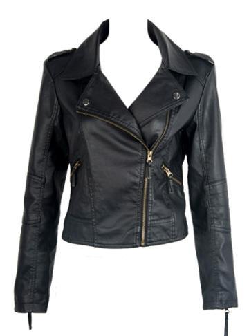 Choies Black Leather Jacket