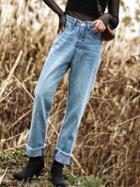 Choies Blue Lightwash High Waist Boyfriend Jeans