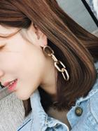 Choies Golden Link Drop Dangles Stud Earrings