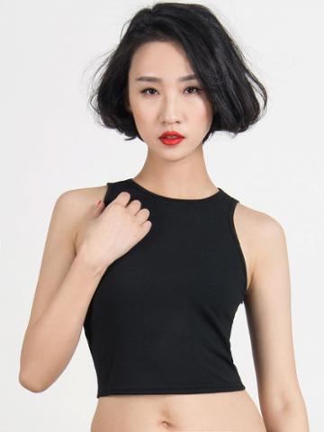 Choies Choies Limited Edition Black Elasticity Crop Top