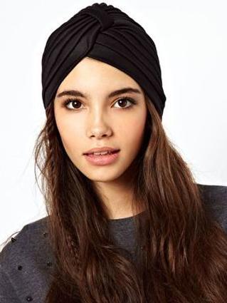 Choies Black Turban Hat