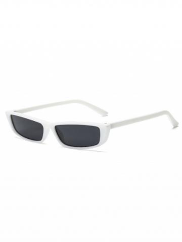 Choies White Rectangle Sunglasses