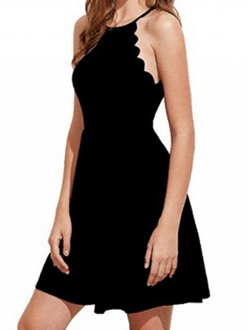 Choies Black Chevron Trim Women Cami Mini Dress