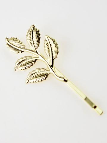 Choies Golden Leaves Hair Slide