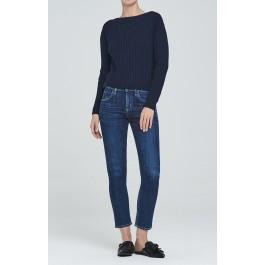 Citizens Of Humanity Elsa Mid Rise Slim Fit Crop In Sonora