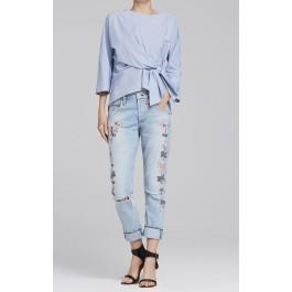 Citizens Of Humanity Emerson Slim Fit Boyfriend In Distressed Rock On Roses
