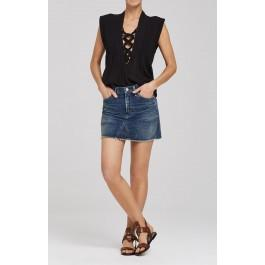 Citizens Of Humanity Cut-off Mini Skirt In Coltrane