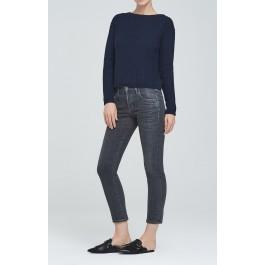 Citizens Of Humanity Elsa Mid Rise Slim Fit Crop In Sulfur