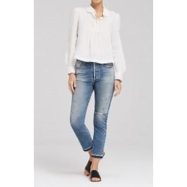 Citizens Of Humanity Dree Crop High Rise Slim Straight In Rustic