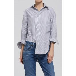 Citizens Of Humanity Kayla Shirt In Blue Stripe