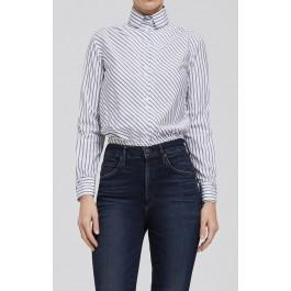 Citizens Of Humanity Amelia Blouse In Bias Stripe