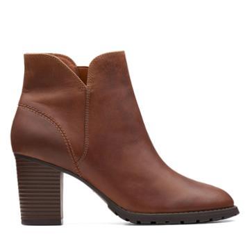 Clarks Verona Trish - Dark Tan Leather - Womens 11