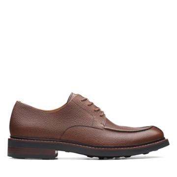 Clarks Whitman Lace - Dark Tan Leather - Mens 9