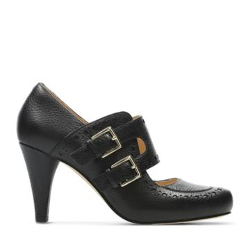 Clarks Dalia Violet - Black Leather - Womens 7