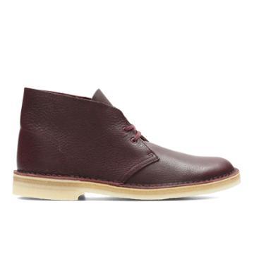 Clarks Desert Boot - Burgundy Tumbled - Mens 8.5