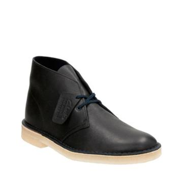 Clarks Desert Boot In Navy Tumbled Leather