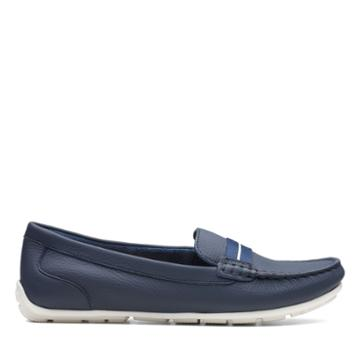Clarks Dameo Vine - Navy Leather - Womens 9