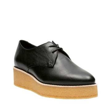 Clarks Ornella Flat In Black Leather