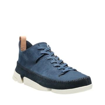Clarks Trigenic Flex In Night Blue Nubuck