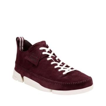Clarks Trigenic Flex In Burgundy Suede