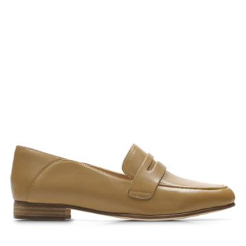 Clarks Pure Iris - Light Tan Leather - Womens 6