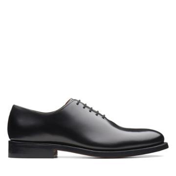 Clarks Bostonian Rhodes Oxford - Black Leather - Mens 10
