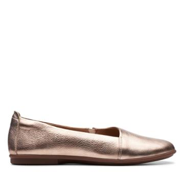 Clarks Un Coral Step - Rose Gold Leather - Womens 8