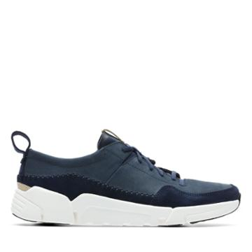 Clarks Tri Active Run - Navy Nubuck - Mens 12