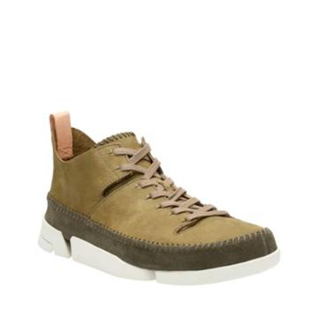 Clarks Trigenic Flex In Forest Green Nubuck