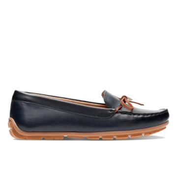 Clarks Dameo Swing - Navy Leather - Womens 8