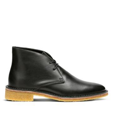 Clarks Friya Desert - Black Leather - Womens 6.5