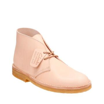 Clarks Desert Boot In Natural Veg Tan Leather