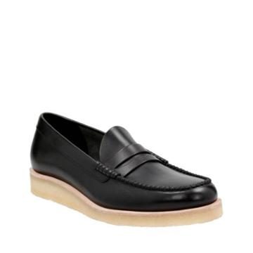 Clarks Burcott Loafer In Black Leather