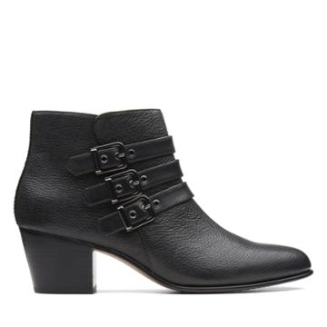 Clarks Maypearl Rayna - Black Leather - Womens 7.5