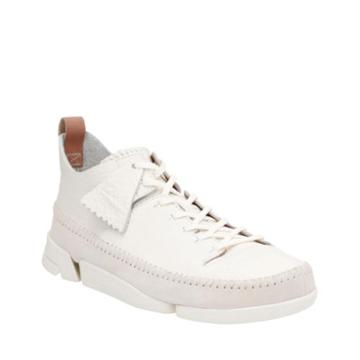 Clarks Trigenic Flex In White Leather
