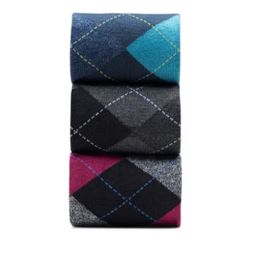 Clarks 3pk Argyle Crw - Multicolour - Mens Accessories 0