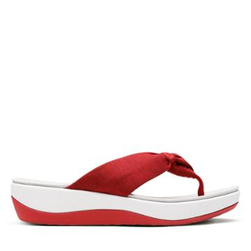 Clarks Arla Glison - Red Fabric - Womens 6