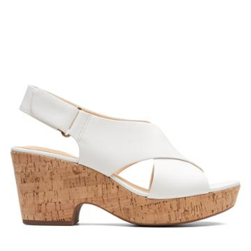 Clarks Maritsa Lara - White Leather - Womens 8.5
