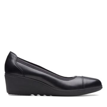 Clarks Un Tallara Liz - Black Leather - Womens 9
