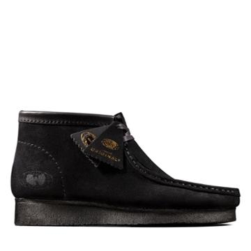 Clarks Wallabee Ww - Black Suede - Mens 9.5