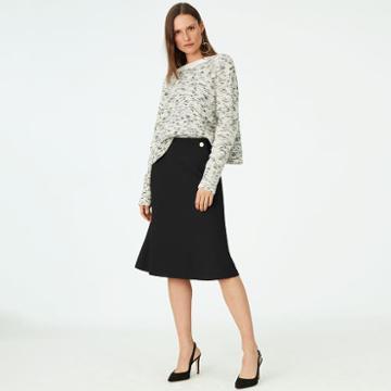 Club Monaco Color Black Borrem Skirt