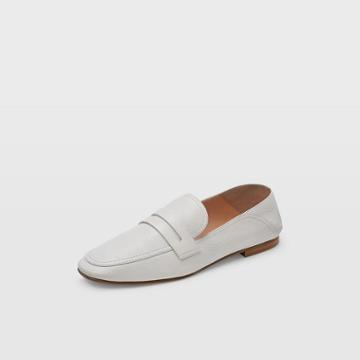 Club Monaco White Kedda Leather Loafer