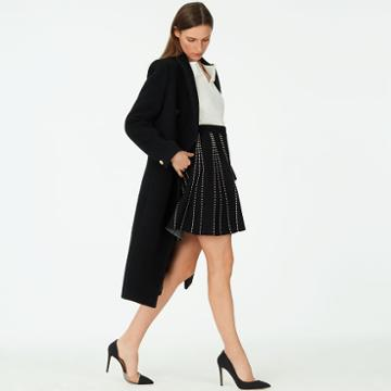 Club Monaco Color Black Plunetta Skirt