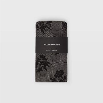 Club Monaco Color Black Floral Bouquet Lace Tights