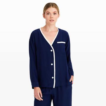 Sleepy Jones Color Blue Sleepy Jones Silk Cardigan