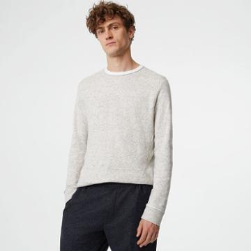 Club Monaco Color Grey Double-knit Crew