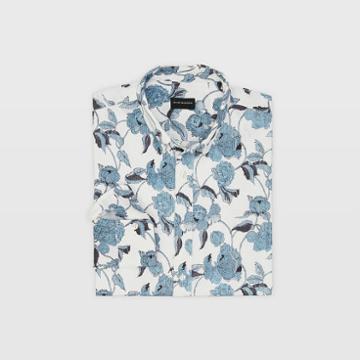 Club Monaco Slim Textured Peony Shirt